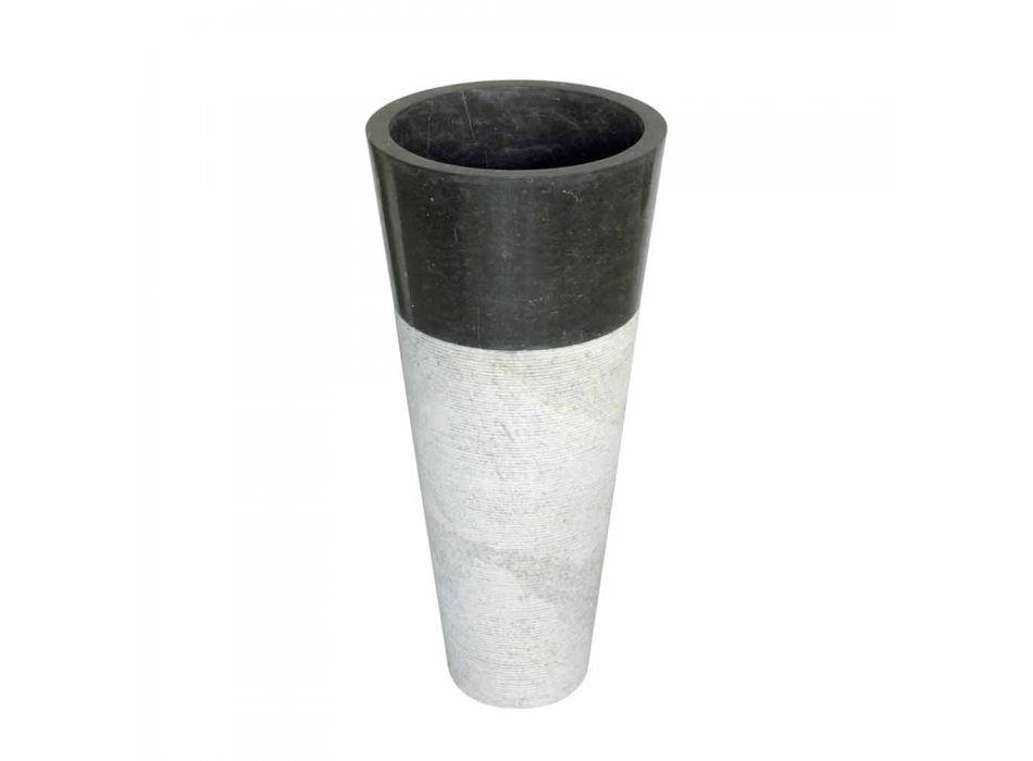 Wastafel Column Taper Stone Natural Black Raja