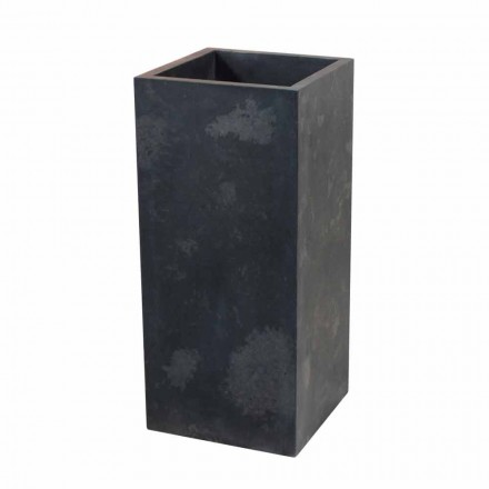 Wastafel in zwart natuursteen kolom Balik