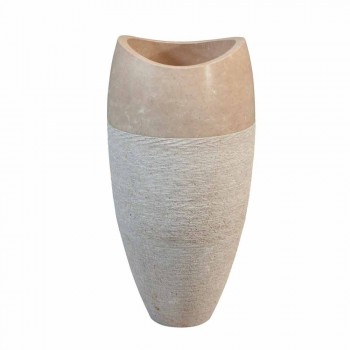 Wastafel Column Sferische Stone-Natural Cream Gili