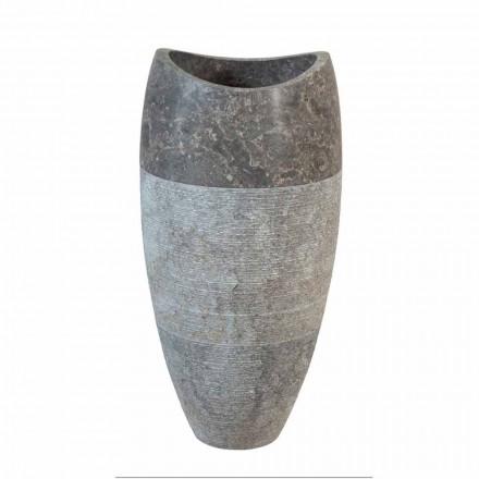 Sferische wastafel kolom in natuursteen rokerige Gili