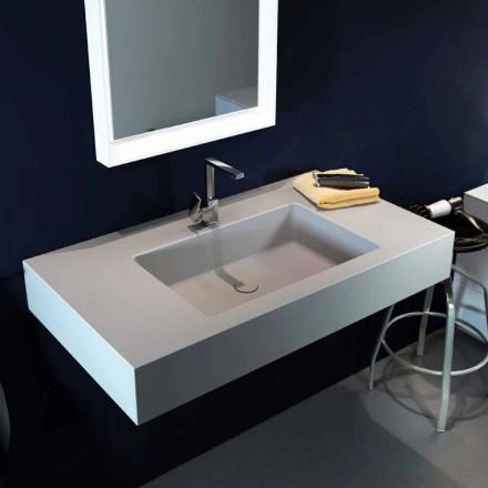 Design moderne hangende wastafel in Luxolid gemaakt 100% in Italië, Ruffano