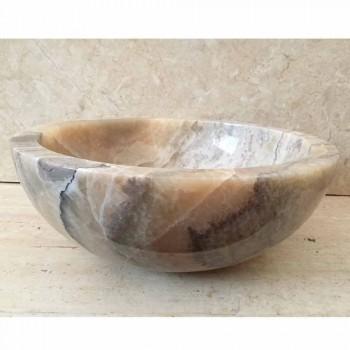 Aanrecht wasbak in natuurlijke onyx steen Ana, handgemaakt