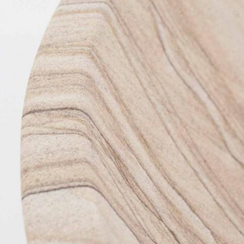 Aanrecht badkamer wastafel in zandsteen ronde vorm - Cerasolo