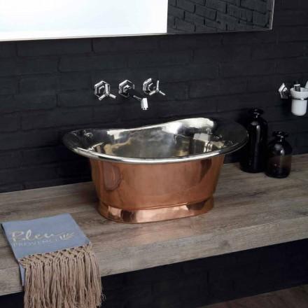 Wastafel bad van koperhoudende met afwerking in gepolijst nikkel Calla