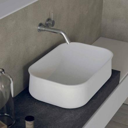 Modern Design Aanrechtblad Rechthoekige Witte Badkamer Wastafel - Tulyp2