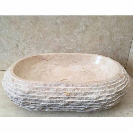 Cora ovale witte wasbak, handgemaakt
