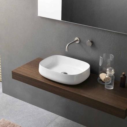 Modern design witte aanrecht keramische wastafel gemaakt in Italië - Tune2