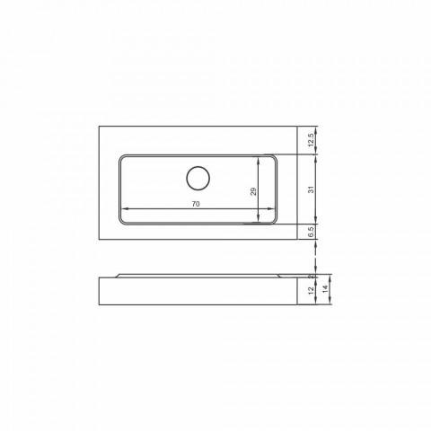 Voghera centrale designwastafel en modern design badkamerblad