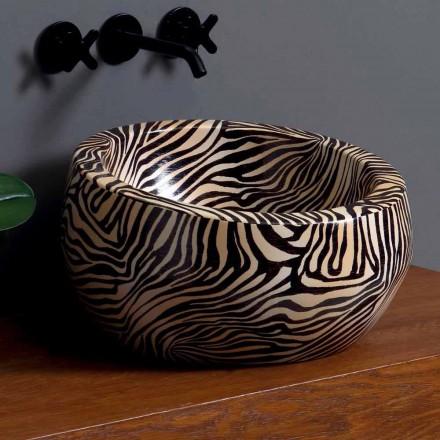 Moderne aanrecht keramische wastafel gemaakt in Italië door Elisa