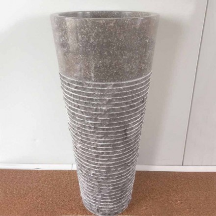 Wastafel met conische kolommen van natuursteen Iga, uniek stuk