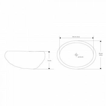 Artisan aanrecht wastafel in modern rivier natuursteen - Aurea
