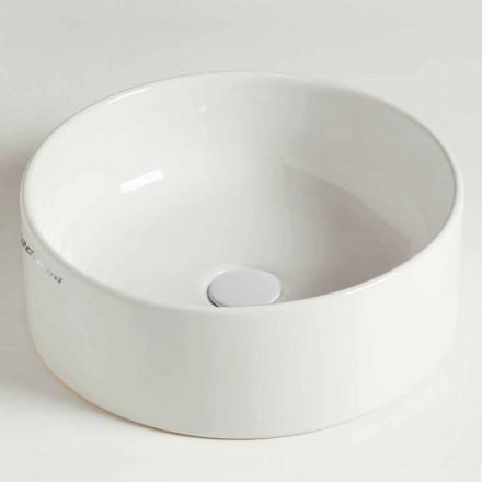 Moderne ronde wastafel in keramiek Gemaakt in Italië - Rotolino