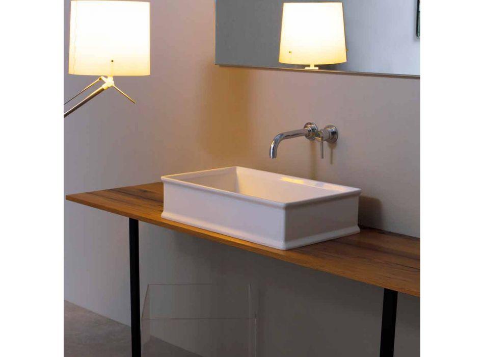 Aanrecht wastafel met een neoklassieke keramische ontwerp gemaakt in Italië Debora