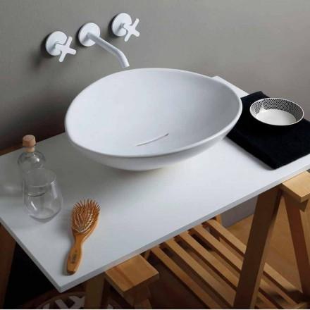 Trendy design keramische wastafel gemaakt in Italië
