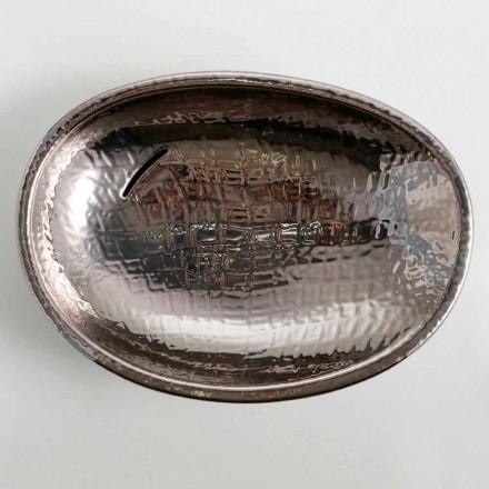 Design keramische wastafel zilver made in Italy Glossy
