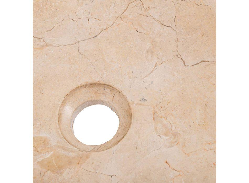 Aanrecht wastafel van handgemaakt ontwerp in geërodeerd marmer, Busseto