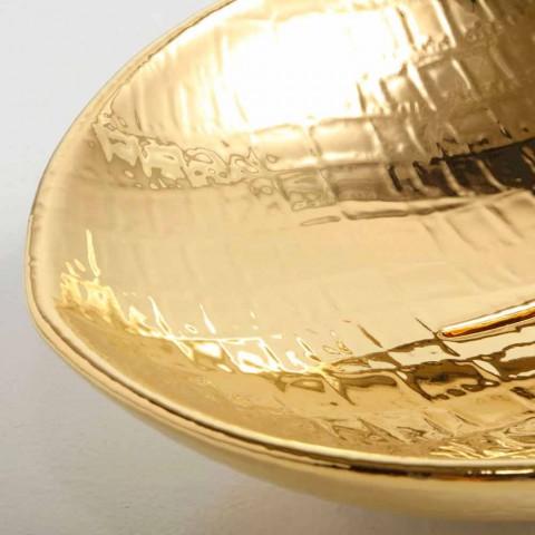 Aanrecht ontwerp keramische wastafel goud gemaakt in Italië Dieren