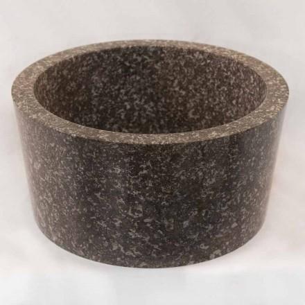 Design aanrecht wastafel in grijs natuursteen Zhen