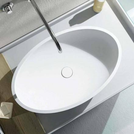 Design aanrecht ovale wastafel geproduceerd 100% in Italië, Frascati