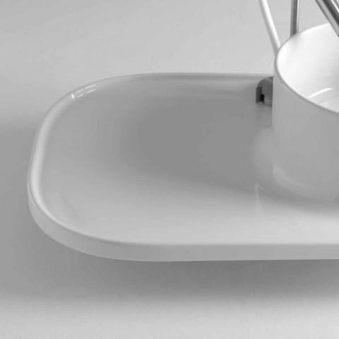 Sink gemaakt van keramiek modern vormgegeven Marta