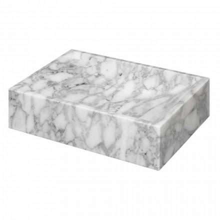 Vierkant Marmer van Carrara Aanrecht Wastafel Ma de in Italië - Canova
