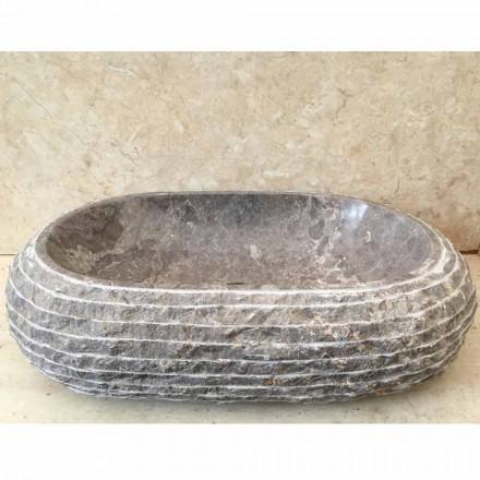 Ivy grijs stenen aanrecht wastafel, uniek stuk