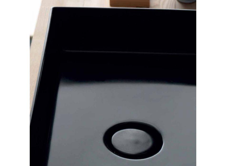 Wastafel support moderne zwarte keramische Icon Alice Keramiek