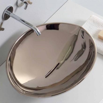 Moderne aanrecht keramische wasbak in platina gemaakt in Italië Dieren