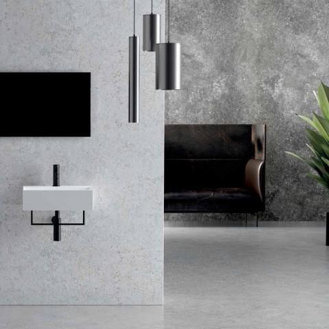 Aanrecht of aan de muur opgehangen wastafel in keramisch vierkant ontwerp - Malvina