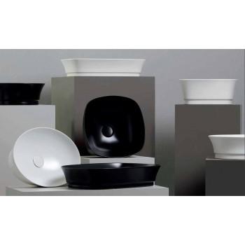 Aanrecht Ovaal Modern Design Keramische Wastafel Made in Italy - Zarro