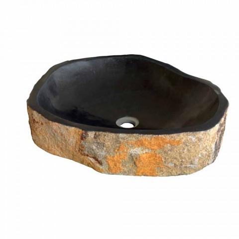 Wastafel Ondersteunende Piece in Basalt Hassan
