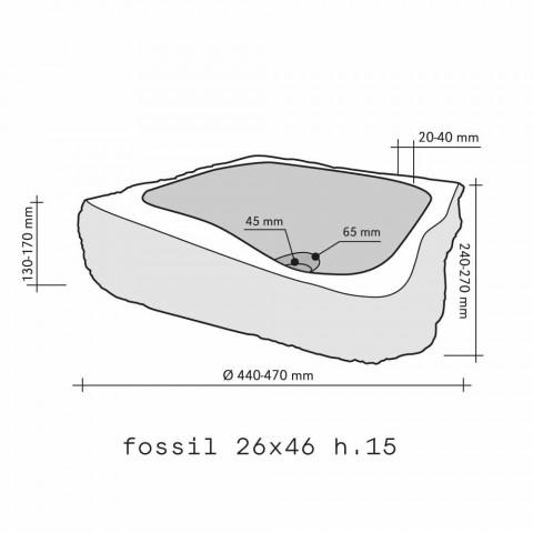 Wastafel Ondersteunende Piece Houten Fossiele Goa
