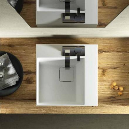 Moderne design vierkante wastafel wastafel 100% gemaakt in Italië, Lavis