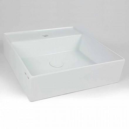 Moderne vierkante keramische wastafel wastafel gemaakt in Italië - Piacione