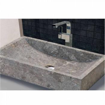 Ondersteunende wastafel Rechthoekige Stone Natural Gray Satun