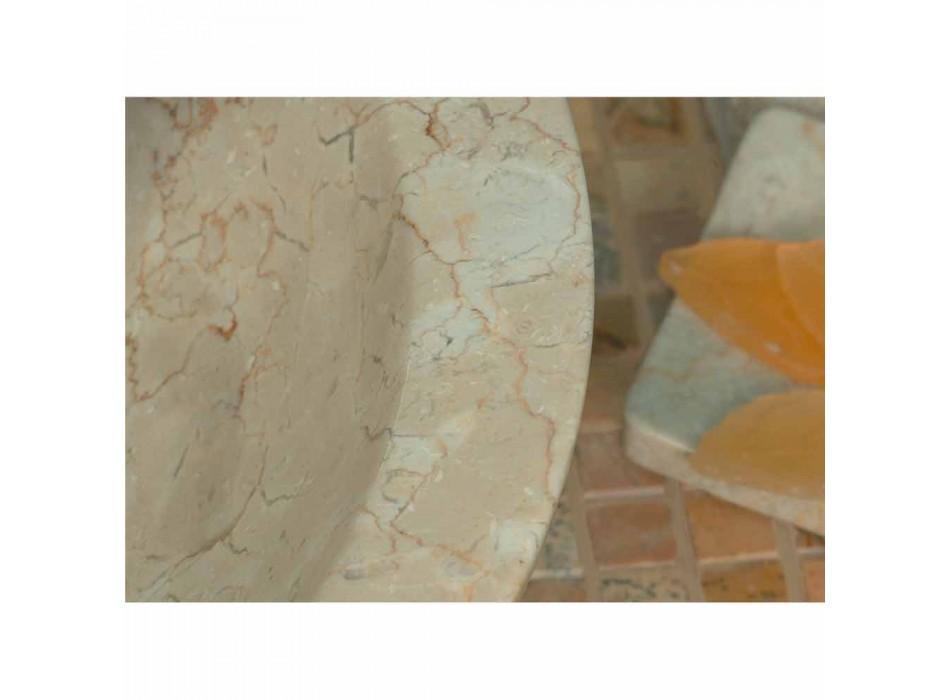 Wastafel Ondersteuning Round Stone Natural Beige Buiten Raw Pai