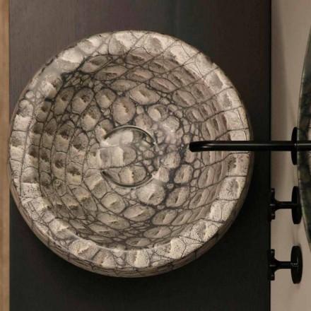 Caiman keramische ronde aanrecht wastafel gemaakt in Italië Elisa ontwerp