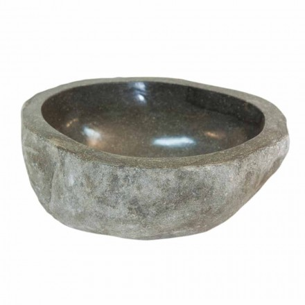 Kai Kleine aanrecht wastafel van natuursteen, uniek stuk
