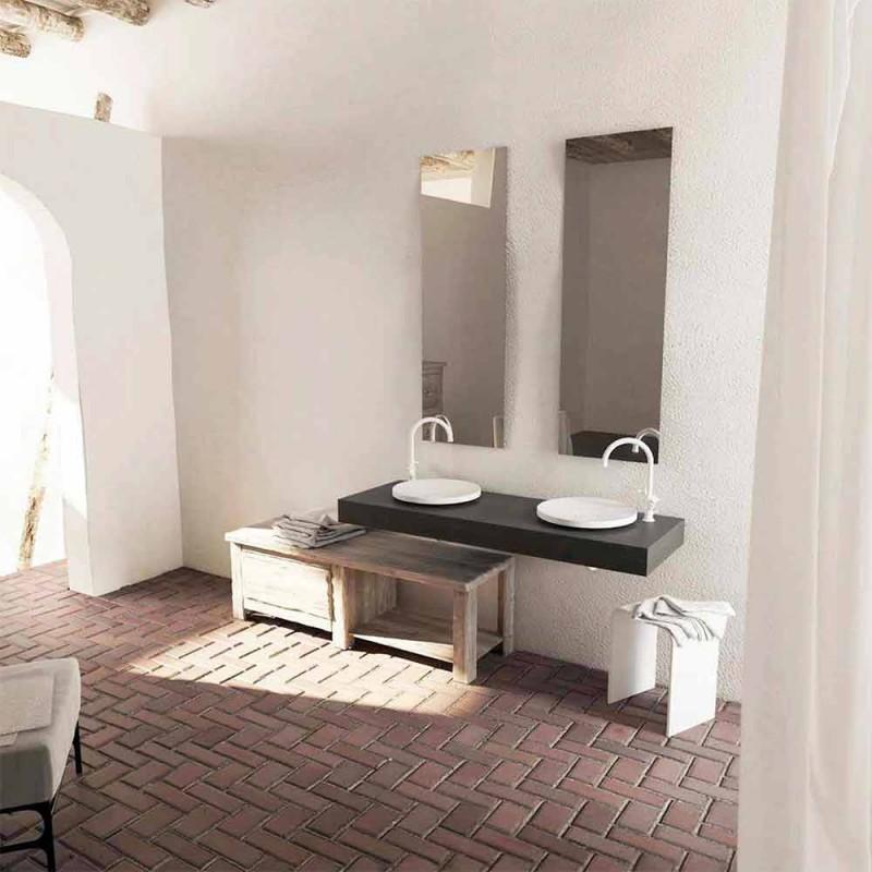 Rond design vrijstaande badkamer wastafel gemaakt in Italië Cream