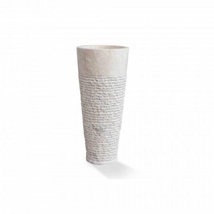 Moderne kolom vrijstaande wastafel in wit marmer - Merlo