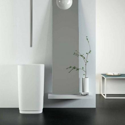Design vrijstaande ronde vloerwastafel gemaakt in Italië, Lallio