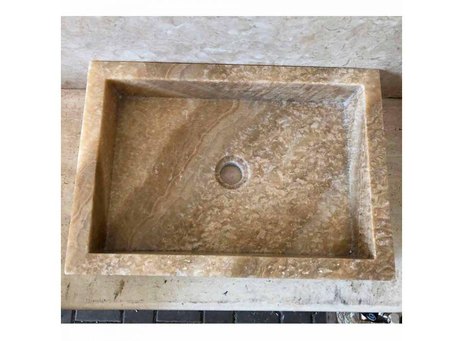 Aanrecht design wasbak in onyx, natuursteen, Jef, uniek stuk