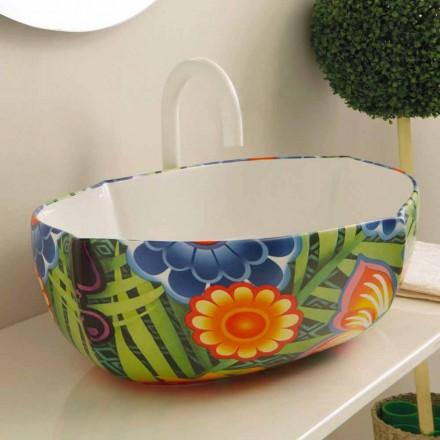 Design keramische aanrecht wastafel, gemaakt in Italië Oscar