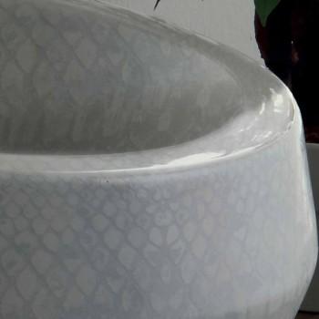 Aanrecht design wastafel in python keramiek gemaakt in Italië Elisa
