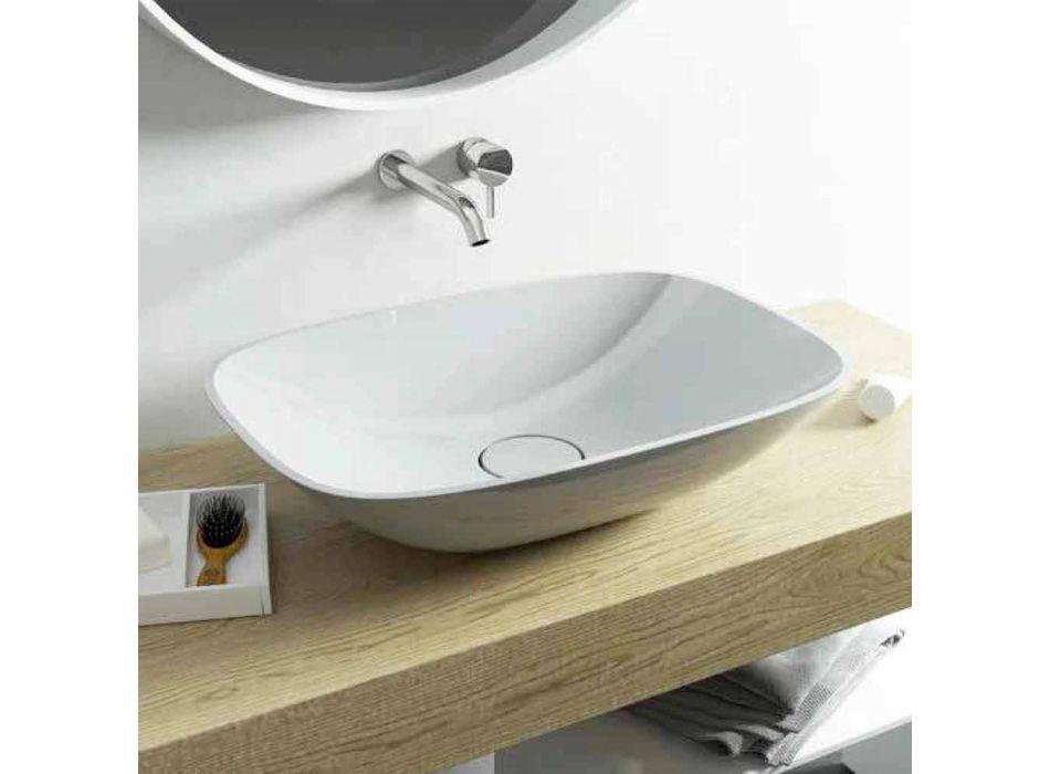 Vrijstaande wastafel ba moderne badkamer gemaakt in Italië Taormina Medium