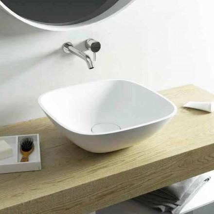 Vierkante wastafelblad 100% gemaakt in Taormina Mini, Italië