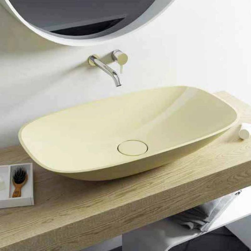 Modern ontwerp gemaakt in Italië vrijstaande badkamer wastafel Taormina Big