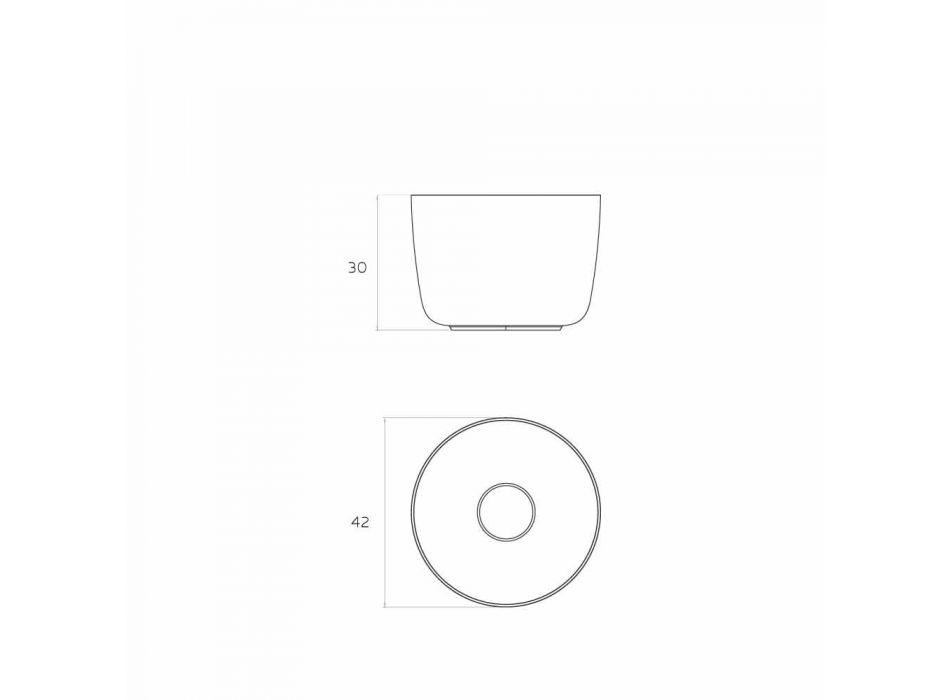 Vrijstaande ronde wastafel aanrechtblad geproduceerd in Italië, Lallio