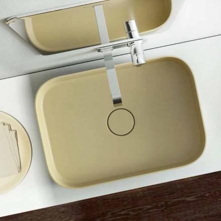 Moderne design gekleurde wastafel gemaakt 100% in Formicola, Italië