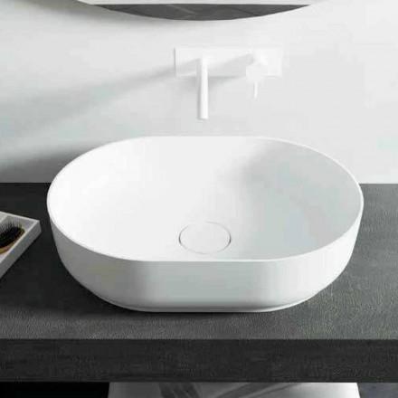 Design vrijstaande badkamerwastafel gemaakt in Dalmine Medium, Italië